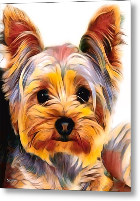 Yorkshire Terrier Painting 01 by Scott Wallace Digital Designs
