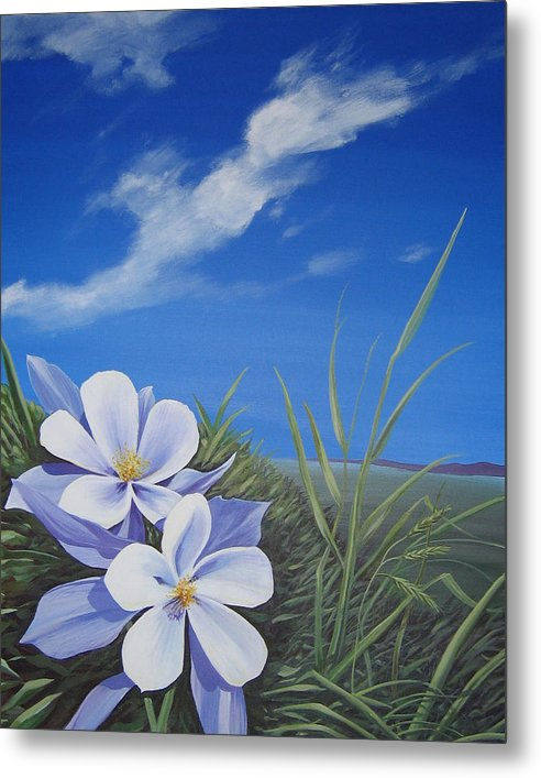 Landscape Metal Print featuring the painting Afternoon High by Hunter Jay