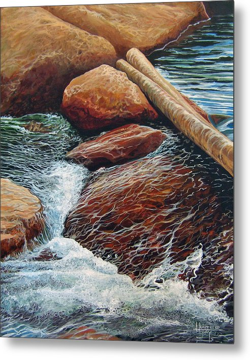 Stream Metal Print featuring the painting The Crossing by Hunter Jay