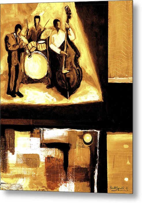 Everett Spruill Metal Print featuring the painting Modern Jazz Number Two by Everett Spruill