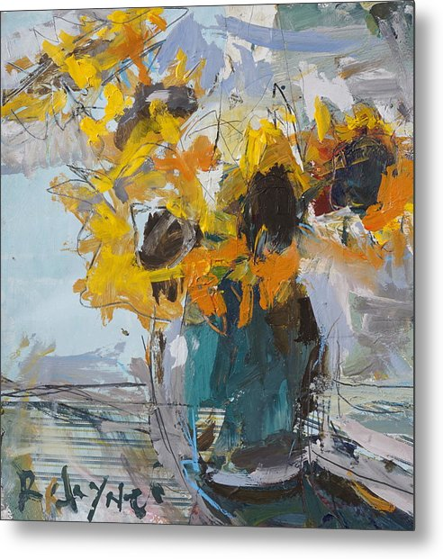 Abstract Sunflower Painting by Robert Joyner