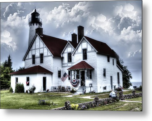 Evie Metal Print featuring the photograph Point Iroquois Lighthouse Michigan by Evie Carrier