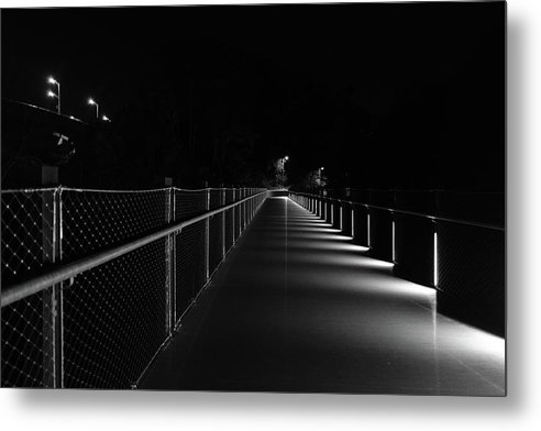 Richmond Metal Print featuring the photograph T Pott Memorial Bridge At Night by Doug Ash