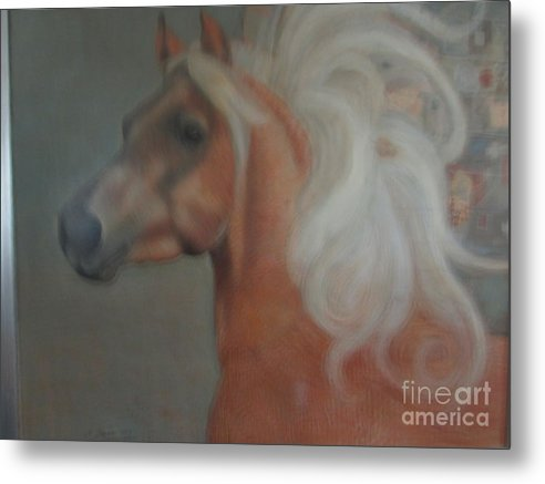 Horse Metal Print featuring the painting Windward by Kamara Hosic