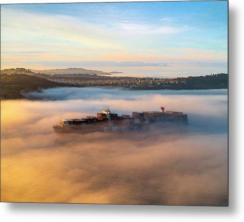 Ghost Ship CMA CGM Loire by Alexander Davidovich