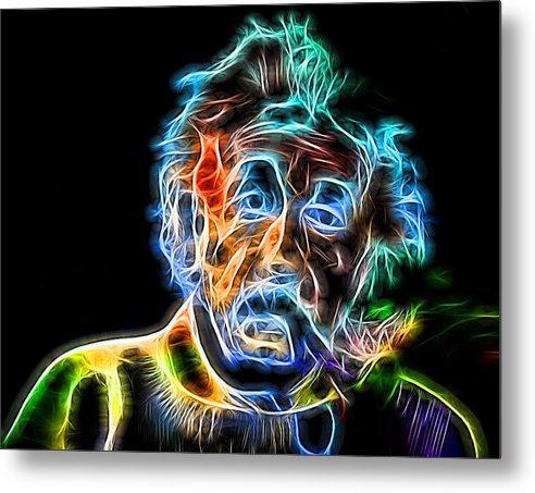 Albert Einstein Neon by Dan Sproul