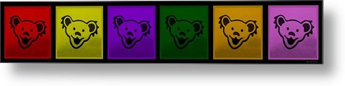 Greatful Dead Metal Print featuring the photograph Greatul Dead Dancing Bears In Muti Colors by Rob Hans