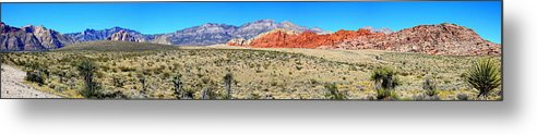 Red Rock Canyon Metal Print featuring the photograph Red Rock Canyon Panorama by Barbara Teller