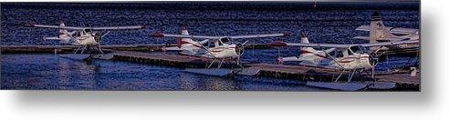 Alaska Metal Print featuring the photograph Float Plane Dock by Timothy Latta