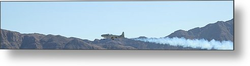 T33 Metal Print featuring the photograph T-33 Shooting Star Flyby Nellis by Carl Deaville