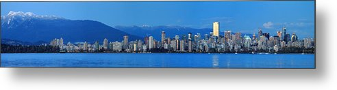 Vancouver Metal Print featuring the photograph Vancouver Panorama  This Can Be Printed Very Large by Pierre Leclerc Photography