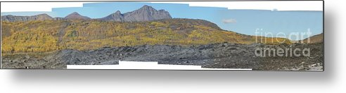 Landscape Metal Print featuring the photograph On The Matanuska Glacier by Ron Bissett