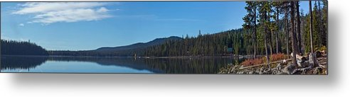 Oregon Metal Print featuring the photograph Elk Lake Oregon Panorama by Twenty Two North Photography