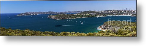 Sydney Harbour Panorama Metal Print featuring the photograph Sydney Harbour Panorama by Sheila Smart Fine Art Photography