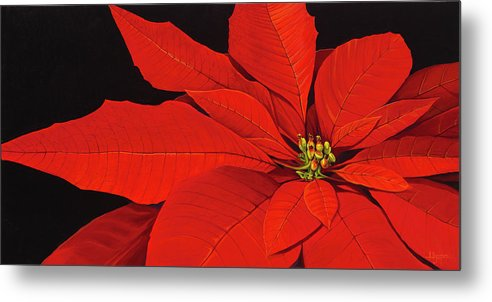 Botanical Metal Print featuring the painting Deep in the Night by Hunter Jay