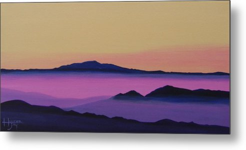 Mountains Metal Print featuring the painting Early Morning by Hunter Jay