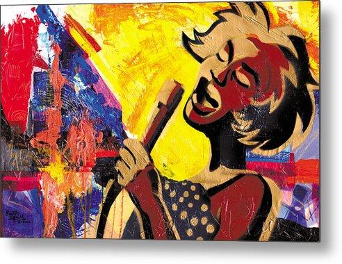 Everett Spruill Metal Print featuring the painting I Sings Da Blues by Everett Spruill