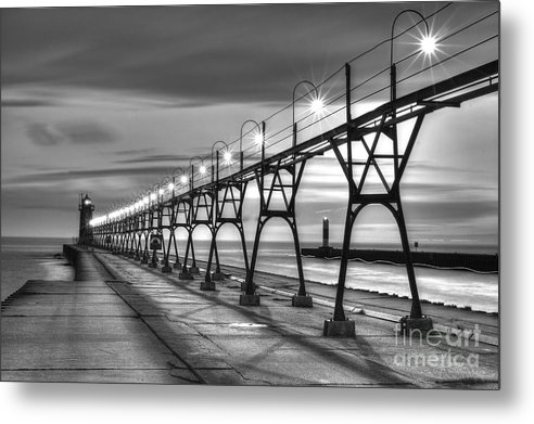 South Haven Light in Black and White by Twenty Two North Photography