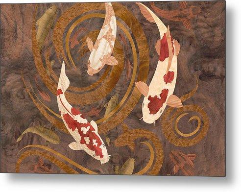 Koi Fish Wood Art by Vincent Doan