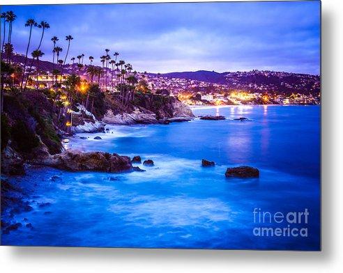 Picture of Laguna Beach California City at Night by Paul Velgos