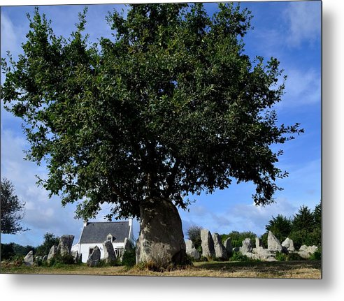 Menhirs Metal Print featuring the photograph Stone tree by Patrick Pestre