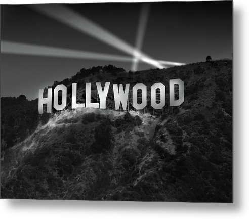 Hollywood Sign at Night by Richard Lund