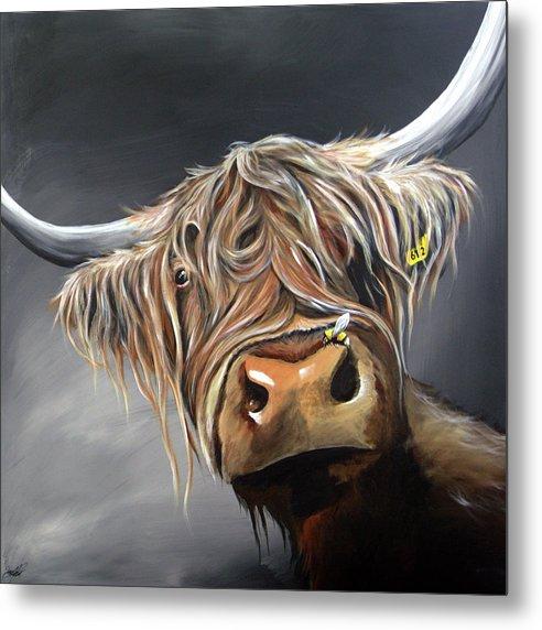 Highland Cow and Bee by Aaron De la Haye