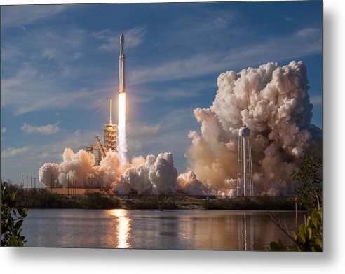 Spacex Falcon Heavy Demo Launch Lift Off by Filip Hellman