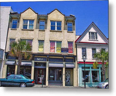 Storefront Metal Print featuring the photograph City Colors by Wendy Mogul