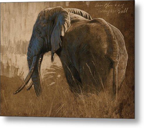 Tarangire Bull by Aaron Blaise