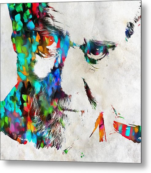 George Carlin Watercolor Abstract by Dan Sproul