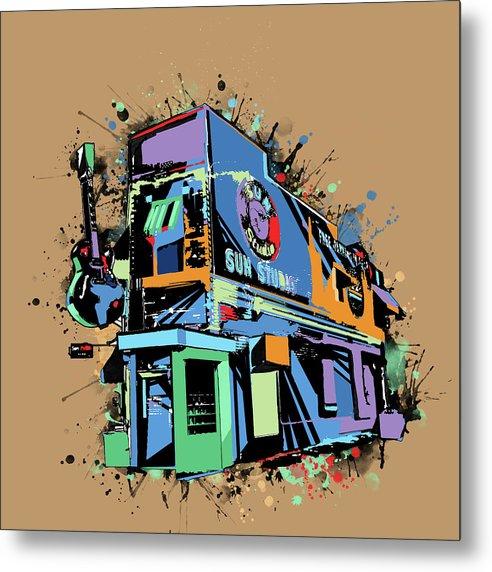Sun Studio Memphis Pop Art by Bekim M