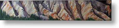Mountains Metal Print featuring the painting Marble Ridge by Elaine Booth-Kallweit