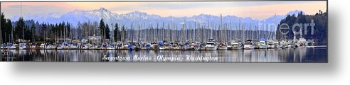 Landscape Metal Print featuring the photograph Swantown Marina Olympia Wa by Larry Keahey