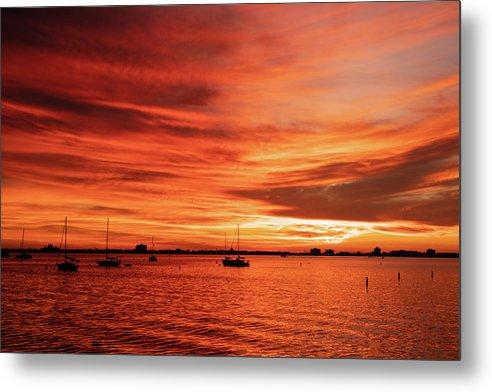 November Sunset in Gulfport, FL  by Wolfgang Deininger