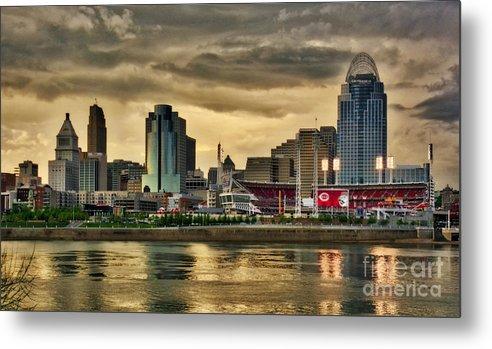 Cincinnati Evening Home Game by Mel Steinhauer