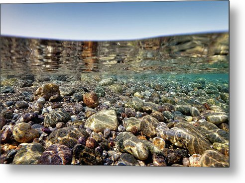 Stones Metal Print featuring the photograph Stones And The Art Of Zen Ldg by Rico Besserdich