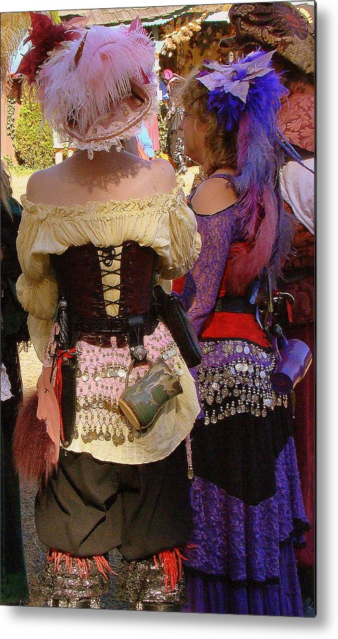 Fine Art Metal Print featuring the photograph Colorful Wenches by Rodney Lee Williams