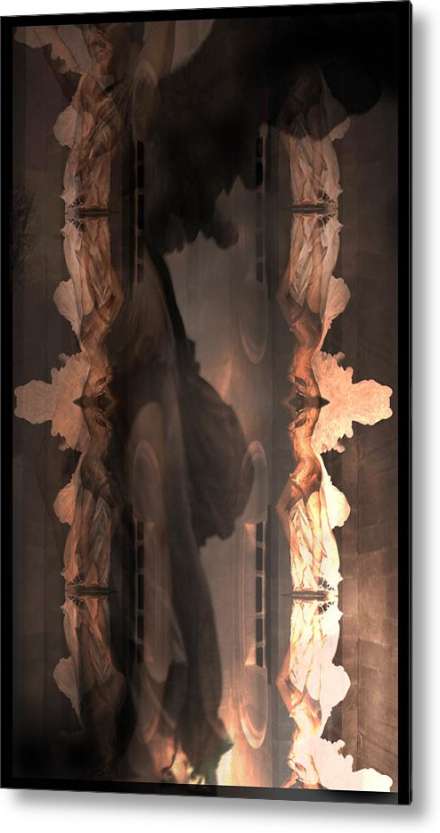 Angels Metal Print featuring the photograph Dark Angel's Crossing by Deprise Brescia