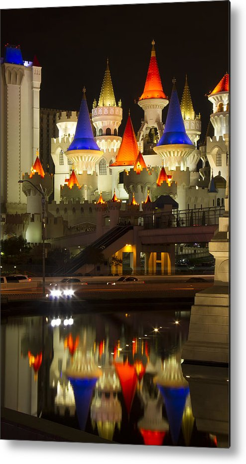 Excalibur Metal Print featuring the photograph Excalibur Reflection by Debby Richards
