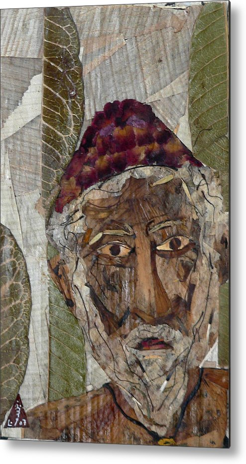 Portrait.holy Person Portrait Metal Print featuring the mixed media Fakeer by basant Soni