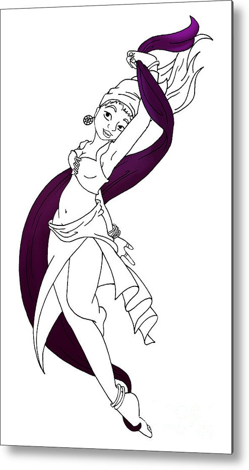 Rohesia Metal Print featuring the digital art Rohesia Dancer by Thedustyphoenix