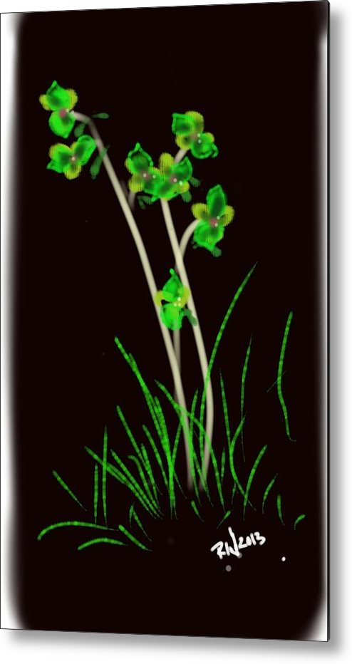 Plants Metal Print featuring the digital art Spring Nights by Richard Wright Galleries