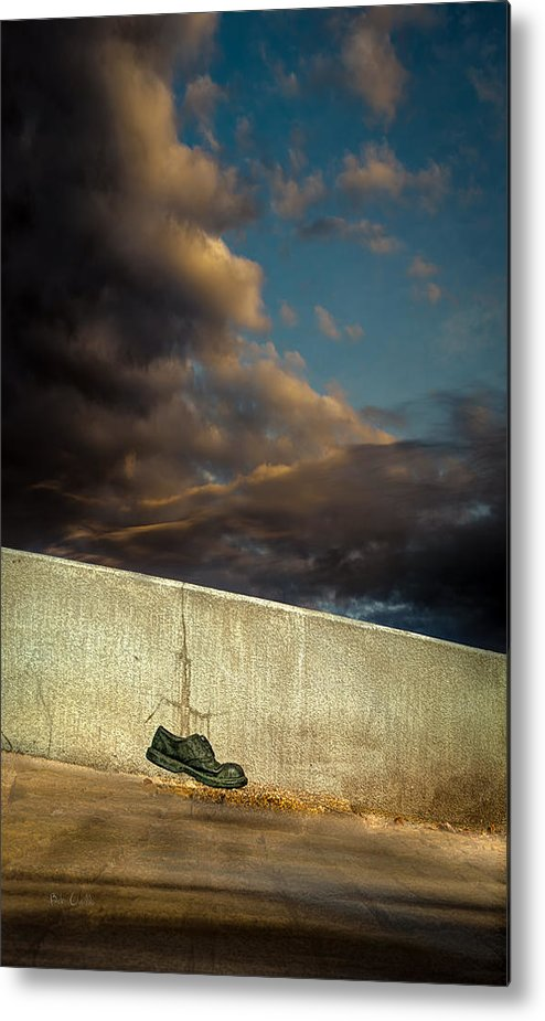 Shoe Metal Print featuring the photograph Wingtips by Bob Orsillo
