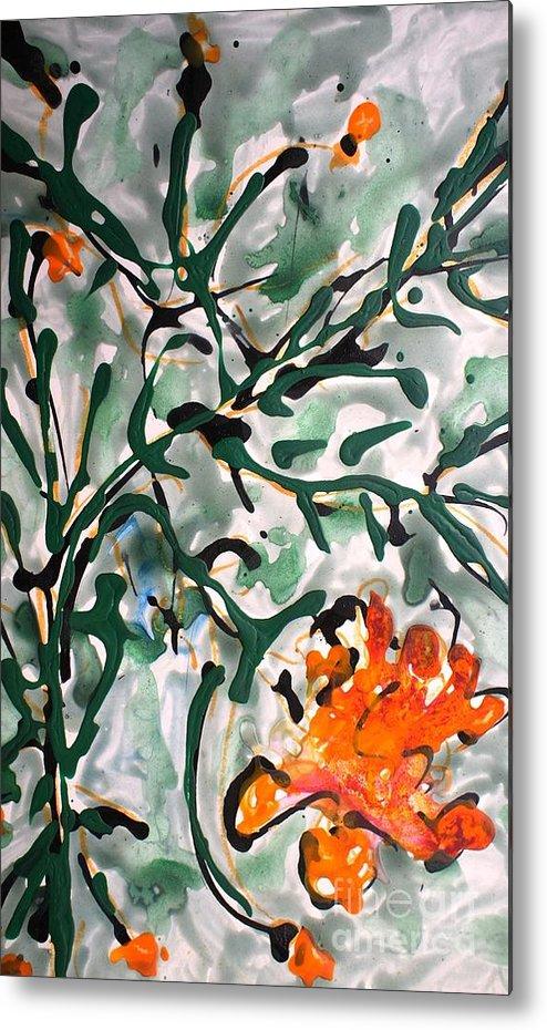 Flowers Metal Print featuring the painting Divineflowers by Baljit Chadha
