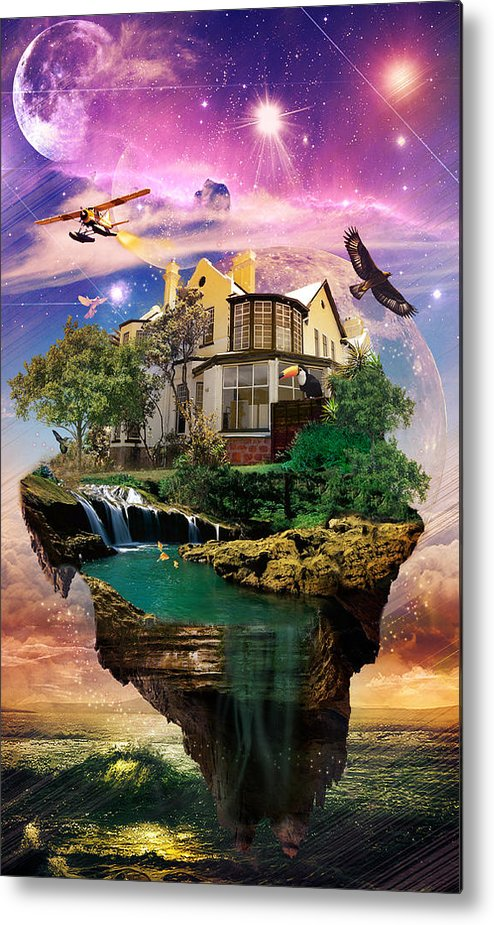 Imagination Home Metal Print featuring the digital art Imagination Home by Kenal Louis
