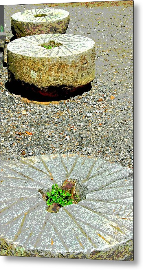 Mill Stones Metal Print featuring the photograph Mill Stones by Cindy Manero