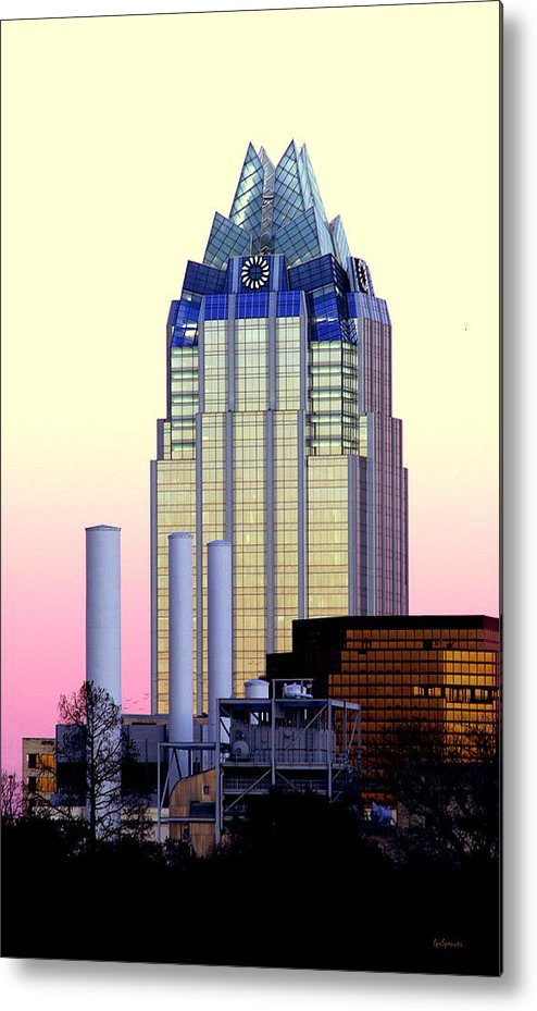 Frost Tower Metal Print featuring the photograph The Frost Tower by Lisa Spencer