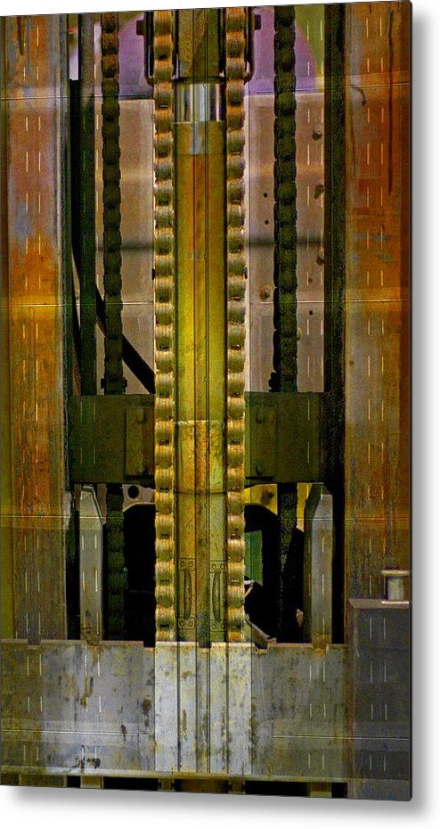 Texture Metal Print featuring the photograph Machina by Skip Hunt