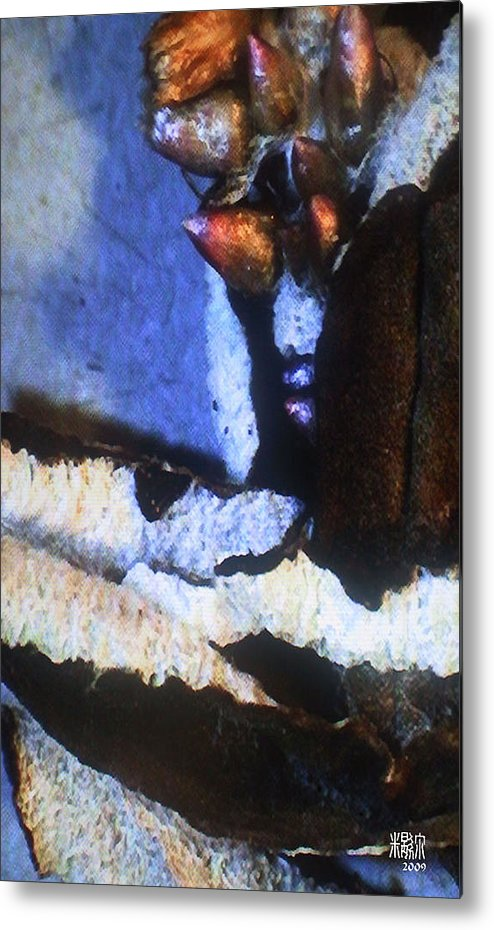 Microscopic Metal Print featuring the photograph Seed Pod by Michele Caporaso
